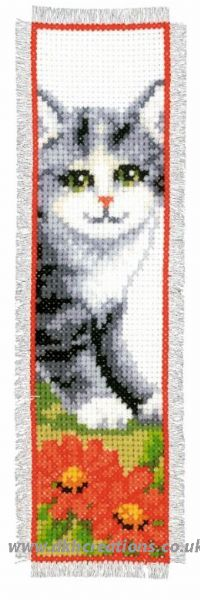 Grey Kitten Bookmark Cross Stitch Kit